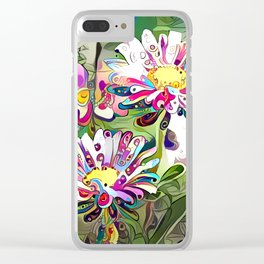 Vibrant Daisy Clear iPhone Case