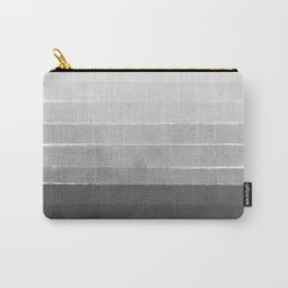 Brushstroke - Ombre Grey, Charcoal, minimal, Monochrome, black and white, trendy,  painterly art  Carry-All Pouch