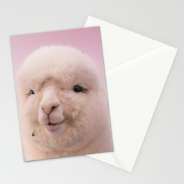 WHITE SHEEP IN CLOSE UP PHOTOGRAPHY Stationery Cards
