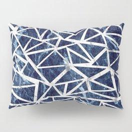 Mozaic Triangle Blue Marble Pillow Sham