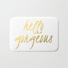 Hello Gorgeous Gold Bath Mat