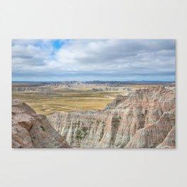 Badlands - Western Scenery in Badlands National Park South Dakota Canvas Print