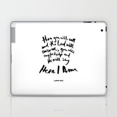 Isaiah 58:9 Laptop & iPad Skin