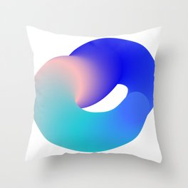 Squashed Donut Throw Pillow