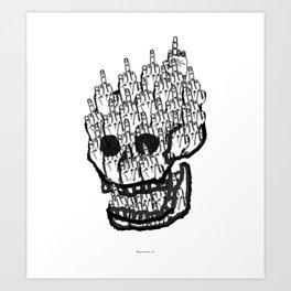 House of Oddities: 0 is equal Zero Art Print