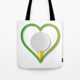 Love Golf Tote Bag