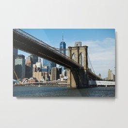 Brooklyn Bridge in New York City Metal Print