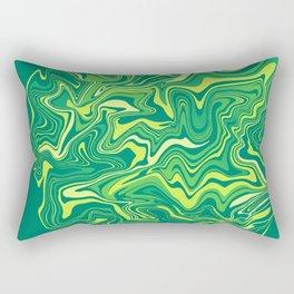 Green Nature Liquid Agate Rectangular Pillow