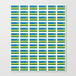 Flag of rwanda -rwanda,Rwandan,rwandais,ruanda,Gasabo,kigali. Canvas Print