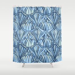 View From a Blue Window Shower Curtain