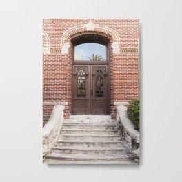 Florida Vintage Door Metal Print