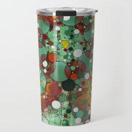 Dark Green Dot Travel Mug