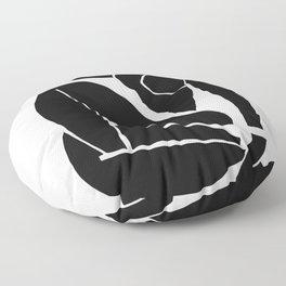 Matisse Cut Out Figure #3 Black Floor Pillow