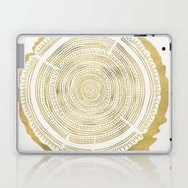 Douglas Fir – Gold Tree Rings Laptop & iPad Skin