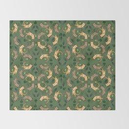 Veggie Cats Throw Blanket