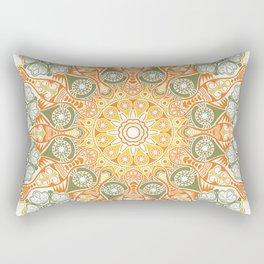 ornamental round lace pattern, Rectangular Pillow
