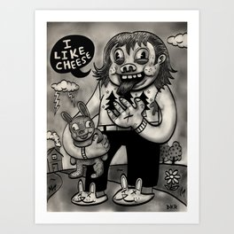 I Like Cheese Art Print