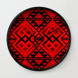 The Lodge (Red) Wall Clock