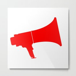 Red Isolated Megaphone Metal Print