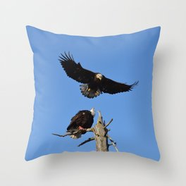 The Battle Begins Throw Pillow