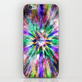 Abstract Spectral Tie Dye iPhone Skin