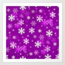 Light Lilac Snowflakes Art Print