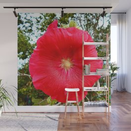 Red Hollyhock Wall Mural