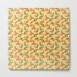 Oranges and Leaves Metal Print
