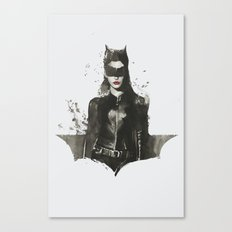 TDKR-catwoman II Canvas Print