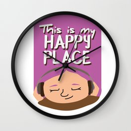 This is my happy place - Music Wall Clock