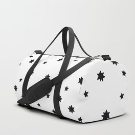 black and white Scandi Animals Prints patterns Duffle Bag