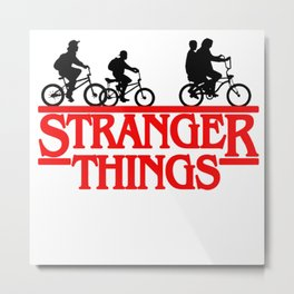 Stranger Things Bike Metal Print