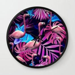 Flamingo tropfest Wall Clock