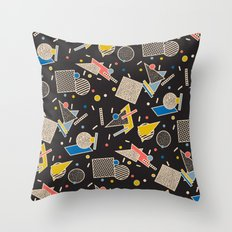 Memphis Inspired Design 8 Throw Pillow