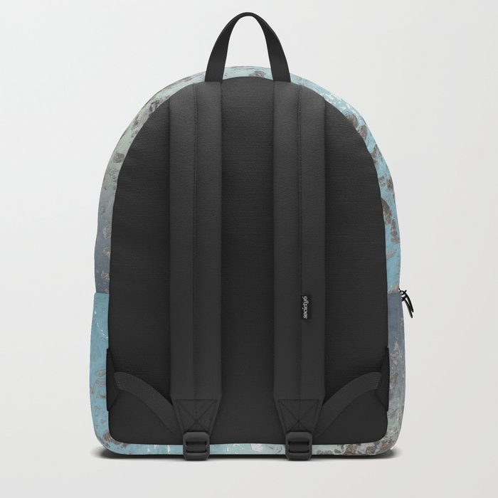 Blue gray abstract pattern Backpack