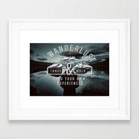wanderlust Framed Art Prints featuring Wanderlust by UtArt