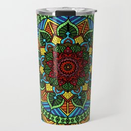 Circle of Life Mandala full color Travel Mug