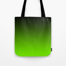 Black and Chartreuse Ombre Tote Bag