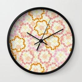 Cottage Garden Floral Wall Clock