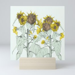 The sunflower brigade Mini Art Print