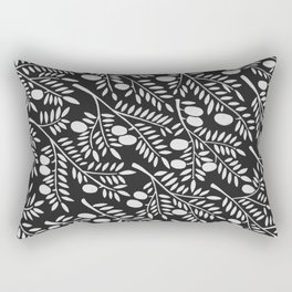 White Olive Branches Rectangular Pillow