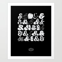 25 Ampersands Art Print