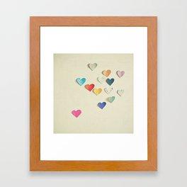 Paper Hearts Framed Art Print