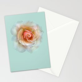bed of roses: eau de nil ghost Stationery Cards
