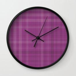 Shades of Purple Plaid Like Pattern Wall Clock