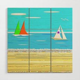 Sailing - Beach Life Wood Wall Art