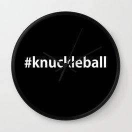 #Knuckleball-Black Wall Clock