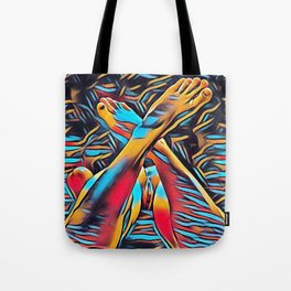 3766s-BH Abstract Leg Arch Vulva Art Feet Up Rendered Abstract by Chris Maher Tote Bag