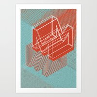 maze runner Art Prints featuring Maze by Mila Spasova