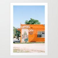 Lupita's Cafe Art Print